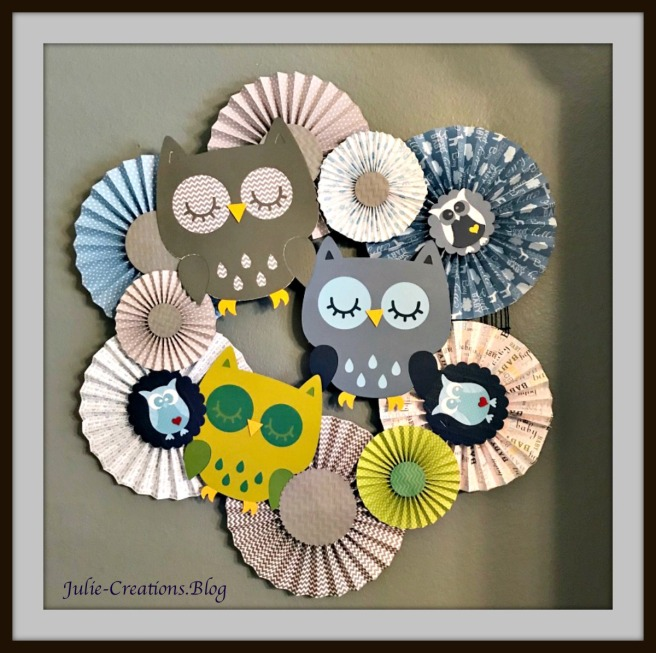 Owl Rosettes Wreath