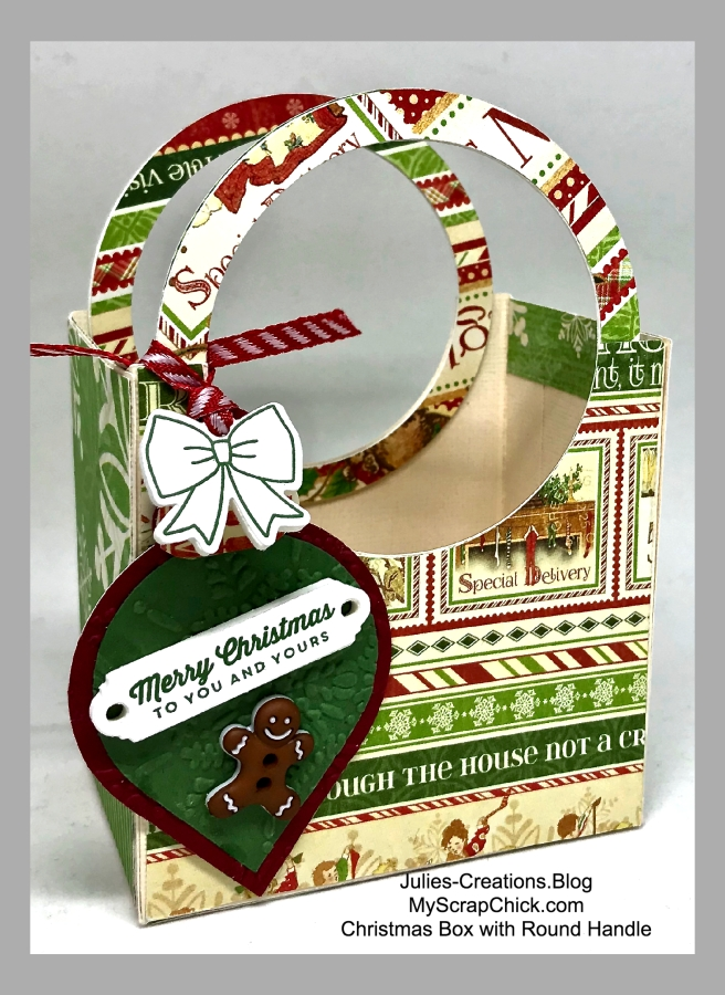 MSC-Christmas Box with Round Handles