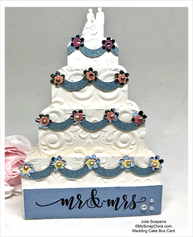 MSC-Wedding Cake Box Card