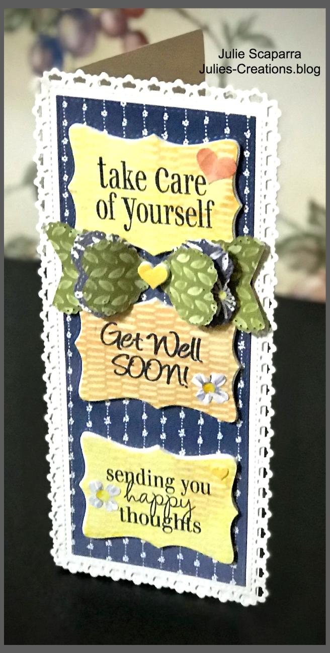 Slimline Card Get Well